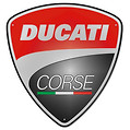 Ducati Corse Shield Metal Sign
